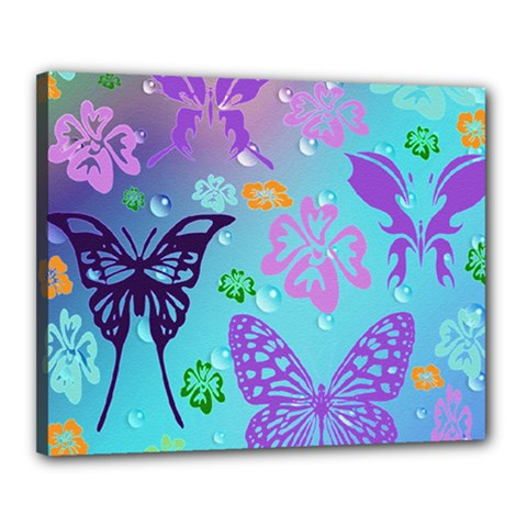 Butterfly Vector Background Canvas 20  X 16