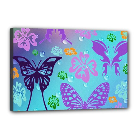 Butterfly Vector Background Canvas 18  X 12