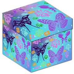 Butterfly Vector Background Storage Stool 12