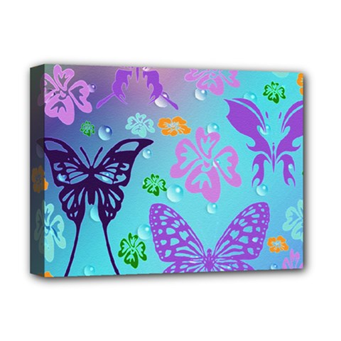 Butterfly Vector Background Deluxe Canvas 16  X 12