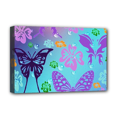 Butterfly Vector Background Deluxe Canvas 18  X 12