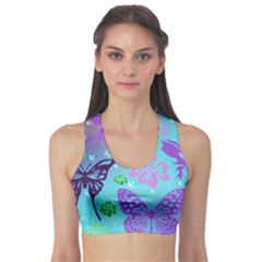 Butterfly Vector Background Sports Bra