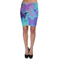 Butterfly Vector Background Bodycon Skirt