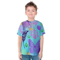 Butterfly Vector Background Kids  Cotton Tee
