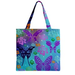 Butterfly Vector Background Grocery Tote Bag