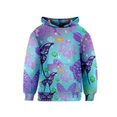 Butterfly Vector Background Kids  Pullover Hoodie