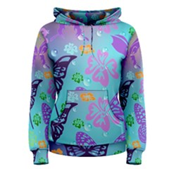 Butterfly Vector Background Women s Pullover Hoodie
