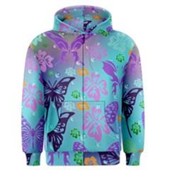 Butterfly Vector Background Men s Zipper Hoodie