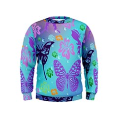 Butterfly Vector Background Kids  Sweatshirt