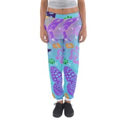 Butterfly Vector Background Women s Jogger Sweatpants