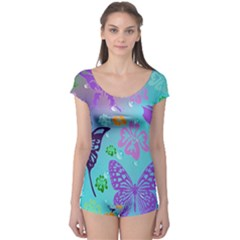 Butterfly Vector Background Boyleg Leotard