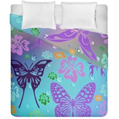 Butterfly Vector Background Duvet Cover Double Side (california King Size)