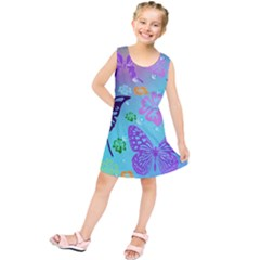 Butterfly Vector Background Kids  Tunic Dress