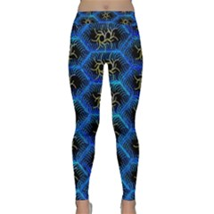 Blue Bee Hive Pattern Classic Yoga Leggings