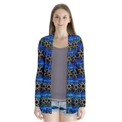 Blue Bee Hive Pattern Cardigans