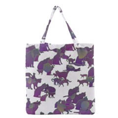 Many Cats Silhouettes Texture Grocery Tote Bag