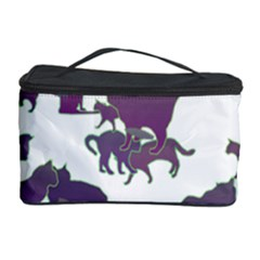 Many Cats Silhouettes Texture Cosmetic Storage Case