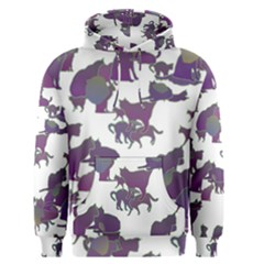 Many Cats Silhouettes Texture Men s Pullover Hoodie