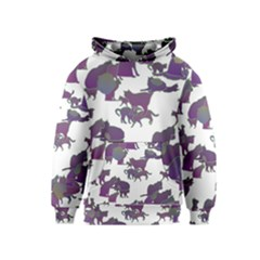 Many Cats Silhouettes Texture Kids  Pullover Hoodie