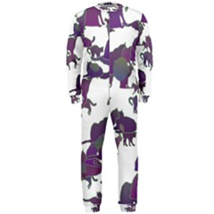 Many Cats Silhouettes Texture Onepiece Jumpsuit (men)