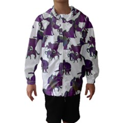 Many Cats Silhouettes Texture Hooded Wind Breaker (kids)