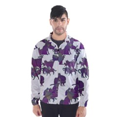 Many Cats Silhouettes Texture Wind Breaker (men)