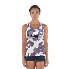 Many Cats Silhouettes Texture Women s Sport Tank Top