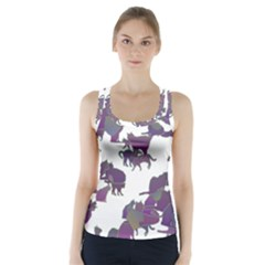 Many Cats Silhouettes Texture Racer Back Sports Top