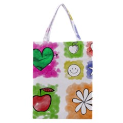 A Set Of Watercolour Icons Classic Tote Bag