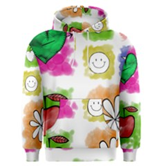 A Set Of Watercolour Icons Men s Pullover Hoodie