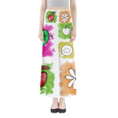 A Set Of Watercolour Icons Maxi Skirts