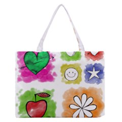 A Set Of Watercolour Icons Medium Zipper Tote Bag