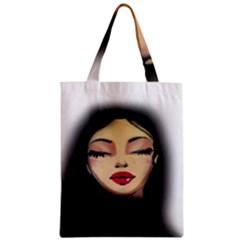 Girl Zipper Classic Tote Bag
