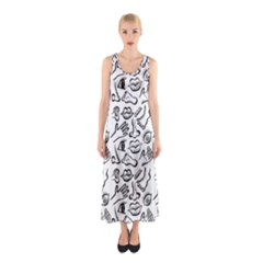 Body parts Sleeveless Maxi Dress