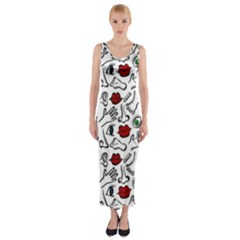 Body parts Fitted Maxi Dress