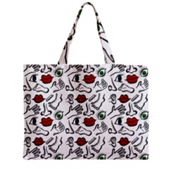Body parts Medium Zipper Tote Bag