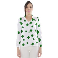 St. Patrick s clover pattern Wind Breaker (Women)