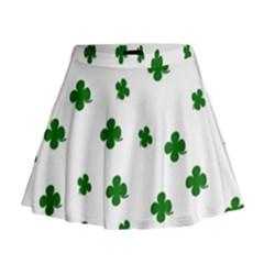 St. Patrick s clover pattern Mini Flare Skirt