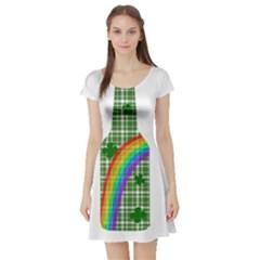St. Patricks day - Bottle Short Sleeve Skater Dress