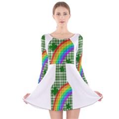 St. Patricks day - Bottle Long Sleeve Velvet Skater Dress