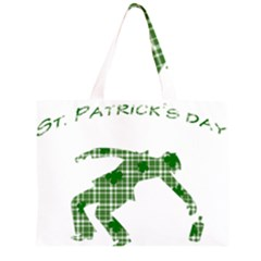 St. Patrick s day Zipper Large Tote Bag