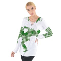 St. Patrick s day Women s Tie Up Tee