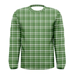 St. Patricks day plaid pattern Men s Long Sleeve Tee