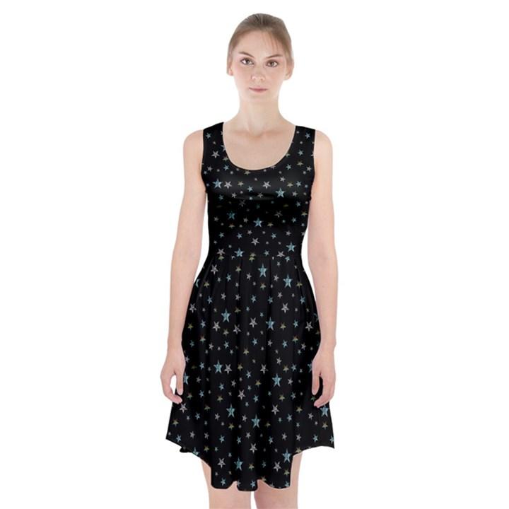 Star print Racerback Midi Dress
