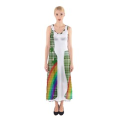 St. Patrick s day Sleeveless Maxi Dress