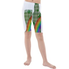 St. Patrick s day Kids  Mid Length Swim Shorts