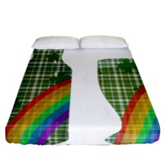 St. Patrick s day Fitted Sheet (Queen Size)
