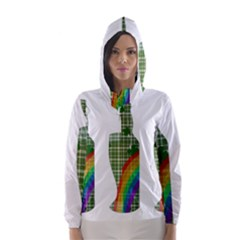 St. Patrick s day Hooded Wind Breaker (Women)