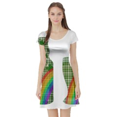 St. Patrick s day Short Sleeve Skater Dress