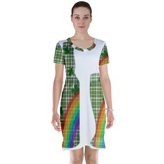 St. Patrick s day Short Sleeve Nightdress